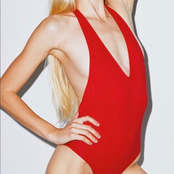 American Apparel Other - American Apparel Red Halter Bodysuit